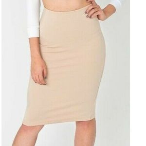 American apparel Nude midi skirt